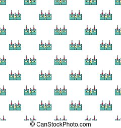 Bouncy castles pattern seamless - Bouncy castles pattern in...
