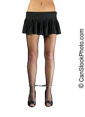 bound woman's legs