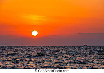 Boundless Sea and Sunset