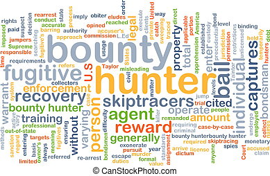 bounty, jager, achtergrond, concept