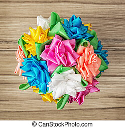 Bouqet of colorful decorative bows