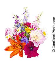 bouquet, été, fleurs