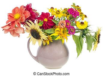 bouquet, été, fleurs, minimalistic