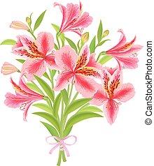 Bouquet Alstroemeria. Eps10 format