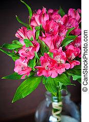 bouquet, alstromeria