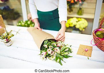 bouquet, amaryllis