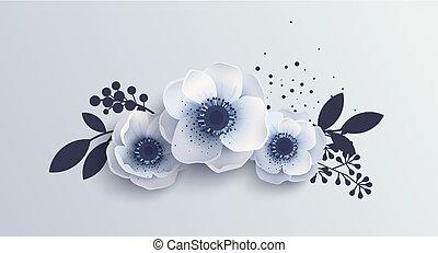 Bouquet Anemones flowers.