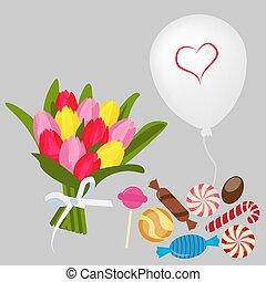 Bouquet ballon candy