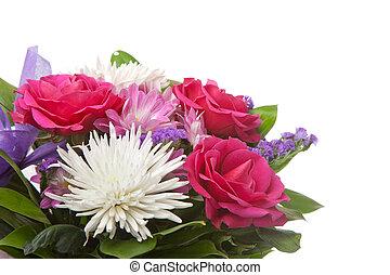 bouquet, beau, fleurs, isolé