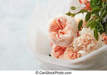 bouquet, beau, fleurs