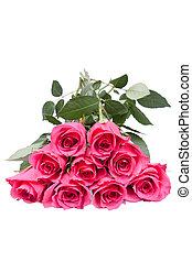 bouquet, beau, roses roses