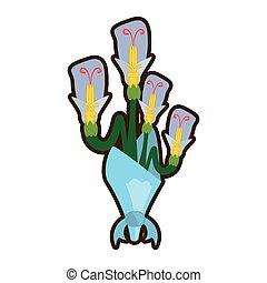 bouquet beuty flower ornament image vector illustration eps ...