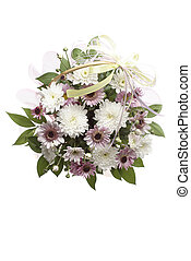bouquet, blanc, isolé, coloré, fête