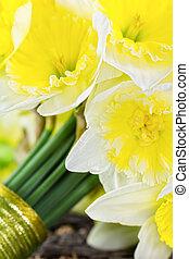 bouquet, closeup, mariée