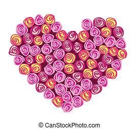 bouquet, coeur, formulaire