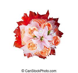 bouquet, décoration, usage, fleur, roses