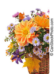 bouquet, de, automne, fleurs