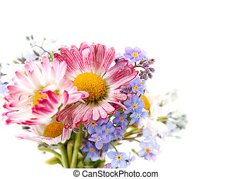 bouquet, de, fleurs ressort