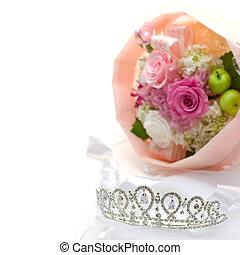 bouquet, diadème
