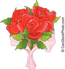 Bouquet - Illustration of bouquet of roses