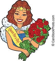 bouquet, femme