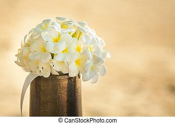 bouquet fiore, di, plumeria