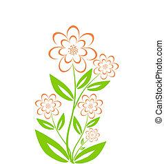 bouquet fiore, isolato, illustrazione, vettore, fondo, bianco