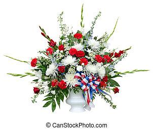 bouquet, fleur, coloré, arrangement