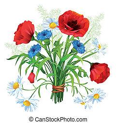 bouquet, fleur, coloré
