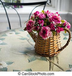 bouquet, fleurs, artificiel