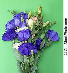 bouquet, fleurs, lisianthus, eustoma