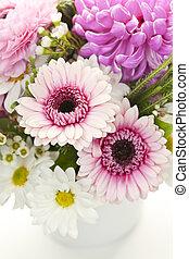 bouquet, fleurs roses