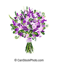 bouquet floral, conception, ton