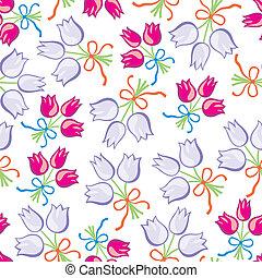 bouquet floral, seamless, modèle