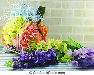 bouquet flower in the vase home decor