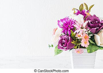 bouquet flowers in vase