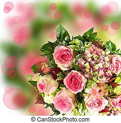 bouquet, forår blomstrer, farverig