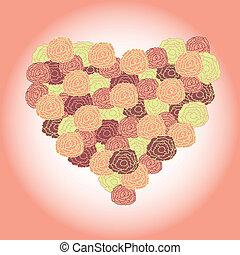 bouquet, forme coeur