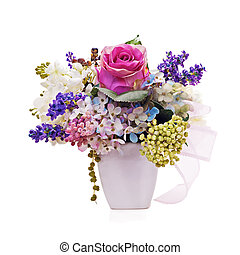 Bouquet from artificial flowers arrangement centerpiece in ...