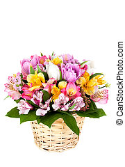 Bouquet from different bright colors