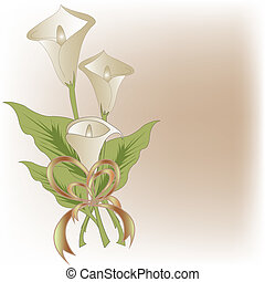 Bouquet from white callas
