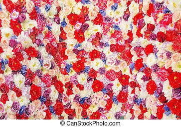 bouquet, géant, fleurs, coloré
