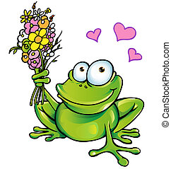 bouquet, grenouille