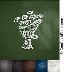 bouquet icon. Hand drawn vector illustration