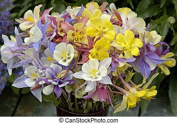 Bouquet in pastel colours