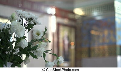 Bouquet in the church