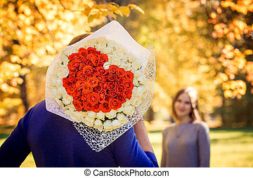 bouquet in the shape of a heart