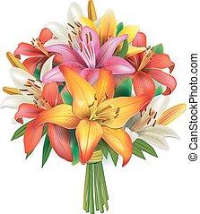 bouquet, lis