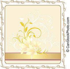 bouquet, lis, ornement