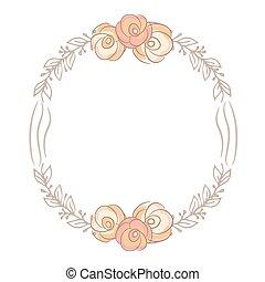 bouquet, mignon, fleur, carte, laurier